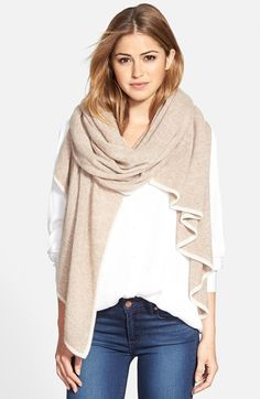 Halogen® Cashmere Travel Wrap available at Dress Up Outfits, Curvy Outfits, Fashion Dresses, Outfits For Teens For School, School Outfits, Plus Size Tips, Cashmere Wrap, Cashmere Scarf, Fashion Tips For Women