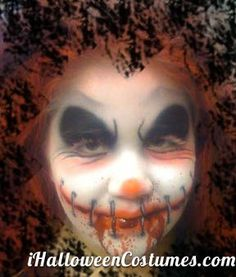 scary clown makeup - Halloween Costumes 2013