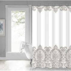 You'll love the Bergin Damask Border Cotton Shower Curtain at Wayfair - Great Deals on all Bed & Bath products with Free Shipping on most stuff, even the big stuff.