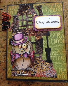 Bird Crazy Halloween Card using Tim Holtz, Ranger, Sizzix and Stampendous products