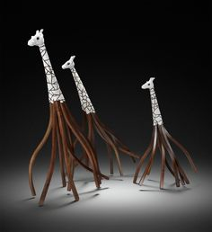 Twiga Trio by Kyle Hawke (Wood Sculpture)   Artful Home