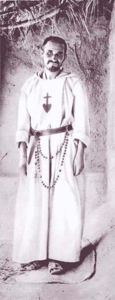 Blessed Charles de Foucauld. Notice the rosary.