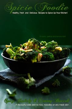 Spicy, Garlicky and Lemony Broccoli Recipe and Tonguespank Spice Co. | Spicie Foodie