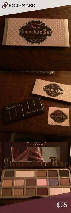 Too Faced Chocolate Bar Palatte Brand new, never used, originally $49 Too Faced Makeup Eyeshadow