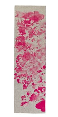 Bonnie and Neil Table Runner Watercolor Pink