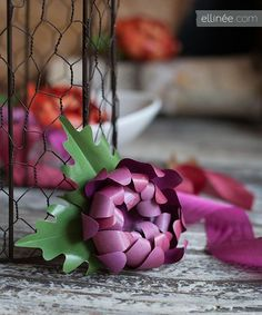 Chrysanthemums (flowers made of paper)