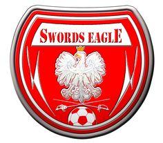 Swords eagle, football logo, Ireland