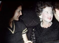 """thosekennedys: """" May 1969 Jackie Onassis takes her former mother-in-law Rose Kennedy to the 40 carats premiere in New York City. Lee Radziwill, Jacqueline Kennedy Onassis, John Kennedy, Caroline Kennedy, John Fitzgerald, The Victim, Jfk, Historical Photos, Marie"""