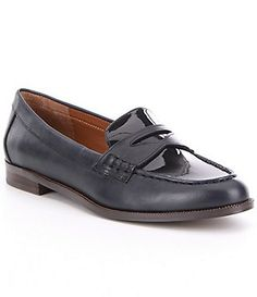 de123ac9574 Lauren Ralph Lauren Barrett Leather Slip-On Loafers Leather Slip Ons