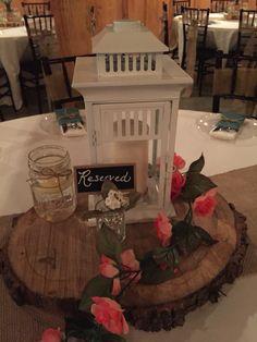 Rustic Wedding Centerpieces ~ Allen Wedding ~ Moore Farms Rustic Wedding Venue ~ Pryor, OK
