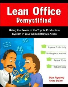The Paperback of the Lean Office Demystified: Using the Power of the Toyota Production System in Your Administrative Areas by Don Tapping, Anne Dunn Lean Office, Lean Enterprise, Lean Manufacturing, Lean Six Sigma, Process Improvement, Improve Productivity, Supply Chain Management, Kaizen, Reduce Stress