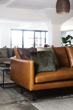 The Louis sofa by Project 82 designed for us by cm studio for our Staple&Co collection - shown here Ascona tan leather.  #masculineinteriors #tanleather #tanleathersofa #vinylsofa #vinyllounge #tanleathercouch #tanleatherlounge #blacksofa #moodyinteriors  #brownleather #designerfurniture #mancave  #minimal #loungeroom #interiordesign #mancave #leathersofa #loungeroom #livingroom   #corporateinteriors #commercialinteriors  #leathersofalivingroom #livingroom