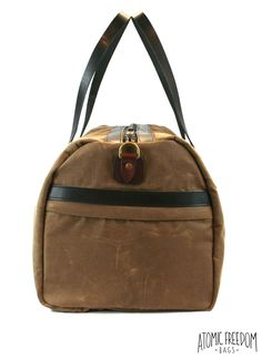 Waxed Canvas Duffel Bag, Large Weekender Duffel Bag, Canvas Weekend Bag, Handmade in Brooklyn New York