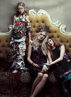 Indulgent Regal Editorials - Emily Fox, Dani and Finlay Moore in Flare December 2011 is Incredible (GALLERY)