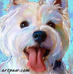 This adorable 8 x 10 print of the West Highland Terrier, Bailey, is a perfect gift for any Westie lover! This lovely piece of art is printed on archival