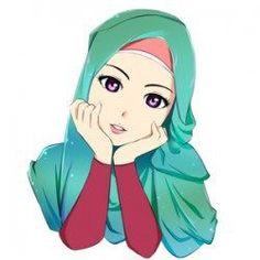 Hasil gambar untuk hijab drawings in colours Cute Cartoon Pictures, Cute Cartoon Girl, Cartoon Girl Drawing, Cartoon Sketches, Couple Cartoon, Cartoon Pics, Crown Illustration, Muslim Pictures, Muslim Images