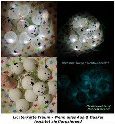 Lichterkette Traum - nachleuchtend- LED -Batterie von ღKreawusel-Designღ auf DaWanda.com