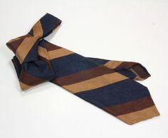 Krawat bez podszewki z jedwabnego szantungu