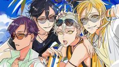 Oogami Kouga,Sakuma Rei,Hakaze Kaoru y Otogari Adonis