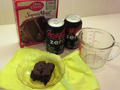Weight Watchers Cake With Diet Soda And Fruit