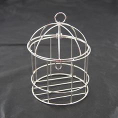 Mini Metal Wire Bird Cage, 4-inch, Silver