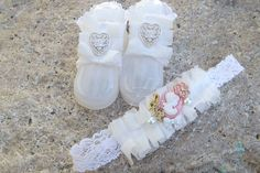 Victorian, Vintage Style Barefoot Sandals and Matching Headband. $20.00, via Etsy.