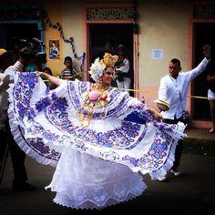 Tribal Dress, Wedding Costumes, Blue And White Dress, Winter House, Folk Costume, Panama City Panama, Festival Wear, Handmade Clothes, Traditional Dresses