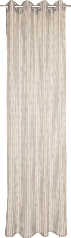 Details:  Die angegebenen Maße sind Stoffmaße. Am Fenster fertig dekoriert reduziert sich die Breite um ca. die Hälfte., mit geradem Abschluss,  Details Aufhängung Ösen:  Aufhängung erfolgt mittels Ösen an der Gardinenstange.,  Design:  Glatte Oberfläche, Gemustert, Bedruckt, Mit farbigen Längsstreifen, Vorder- und Rückseite haben eine schöne Optik,  Material:  85% Polyester, 15% Baumwolle,  Pf...