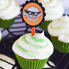 Masked Monkey Cupcake Toppers
