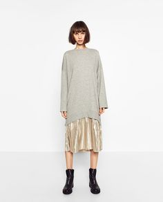 SWEATSHIRT AND SKIRT DRESS-DRESSES-TRF | ZARA United States