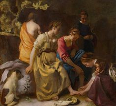 Чертополох  Ян Вермеер. Диана со спутницами. Нидерланды, 1655 годMauritshuis