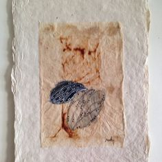 painted tea bag on handmade paper www.rubysilvious.com