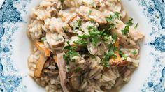 Prepara un risotto con las sobras del pavo