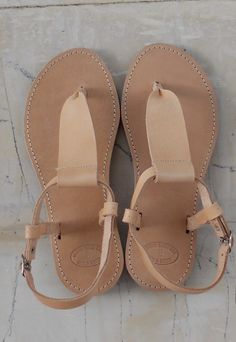 Leather Sandals by BlueDrop on Etsy. $39.00, via Etsy.