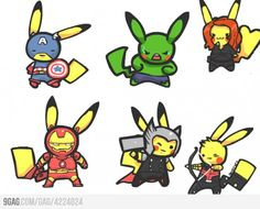 The Pikavengers. So cute!!