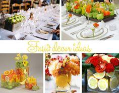 Fruit Event Table Decor | Wedding decor using fruit - Primadonna Bride