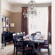 purple green and teal dinning room | Glamorous dining room | Dining rooms | Decorating ideas | Image ...