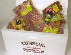 Conecuh gift pack.  Look at the bacon in there!