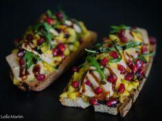 Tartines gourmandes foie gras, mangue, gingembre et grenade – je vais vous cuisiner Foie Gras, Sandwiches Gourmets, Gourmet Sandwiches, Valentines Design, Grenade, Saint Valentine, Strasbourg, Alsace, Pomegranate