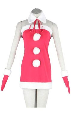 Vicwin-One Vocaloid Christmas Edition Miki Cosplay Costume * You can get additional details at the image link.