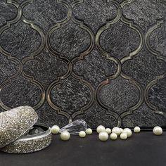 Keep those jaws dropped for the Veranda Shadow Quartz and Mirror Tile! #waterjetwednesday #lantern #black #Quartz #antique #mirror #mosaic #walltile #waterjet #elegant #baroque #pearls #beautiful #interiordesign #homedecor #design #goals #homeimprovement #shadow #ridge #veranda #antiquemirror #tileaddiction #tilehighclub #tile #tilebar #ihavethisthingwithtiles #jewels by tilebar