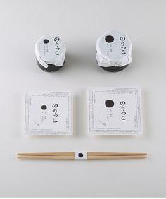 のりっこ|NPOいえしま  瀬戸内海に浮かぶ家島。その島で暮らすおばちゃんたちがつくった海苔の佃煮「のりっこ」のパッケージデザイン。「白いご飯」の上に「黒い海苔の佃煮」がペちょっと乗った印象を直感的に伝えるため、白と黒のコンポジションを検証した。 - AD+D+I 大黒大悟/C studio-L/Ph 遠藤匡/2010/特定非営利活動法人いえしま