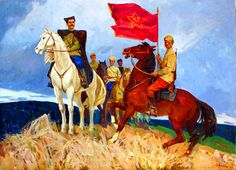 Russian Red Army cavalry during the Russian Civil War