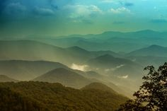 The undulating hills of the Appalachian Mountains.