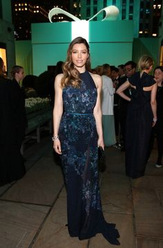 Jessica Biel at the Tiffany & Co. Blue Book Ball. Styled by Estee Stanley. Hair by Jen Atkin. Makeup by Molly Stern.