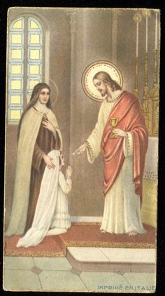 http://www.ebay.com/itm/VINTAGE-HOLY-CARD-OF-COMMUNION-WITH-JESUS-AND-ST-THERESE-/400938984954?