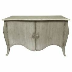 """Featuring 2 drawers and a scalloped apron, this weathered buffet is the perfect addition to your dining room. Use it to stow extra table linens and place settings, or let it become an impromptu home bar.    Product: BuffetConstruction Material: Teak woodFeatures:  Weathered finishTwo doorsScalloped apronDimensions: 34"""" H x 55"""" W x 24"""" D"""