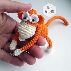 Mesmerizing Crochet an Amigurumi Rabbit Ideas. Lovely Crochet an Amigurumi Rabbit Ideas. Crochet Dolls Free Patterns, Crochet Doll Pattern, Crochet Stitches Patterns, Amigurumi Patterns, Crochet Hook Set, Cute Crochet, Crochet Baby, Toy Monkey, Crochet Monkey