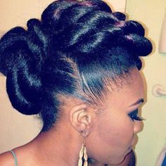 Beauty at its finest!! #soinlovewiththishairstyle Natural hair formal hairstyle