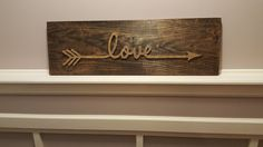 This Love Arrow sign would be the perfect addition to any room in your home! This sign is a little more complex and time consuming than some of my other